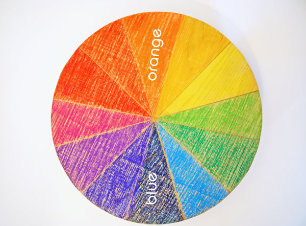 complementary colour wheel