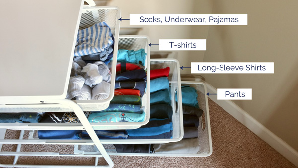 How To Organize Folded Clothes Without Dressers - School of Decorating