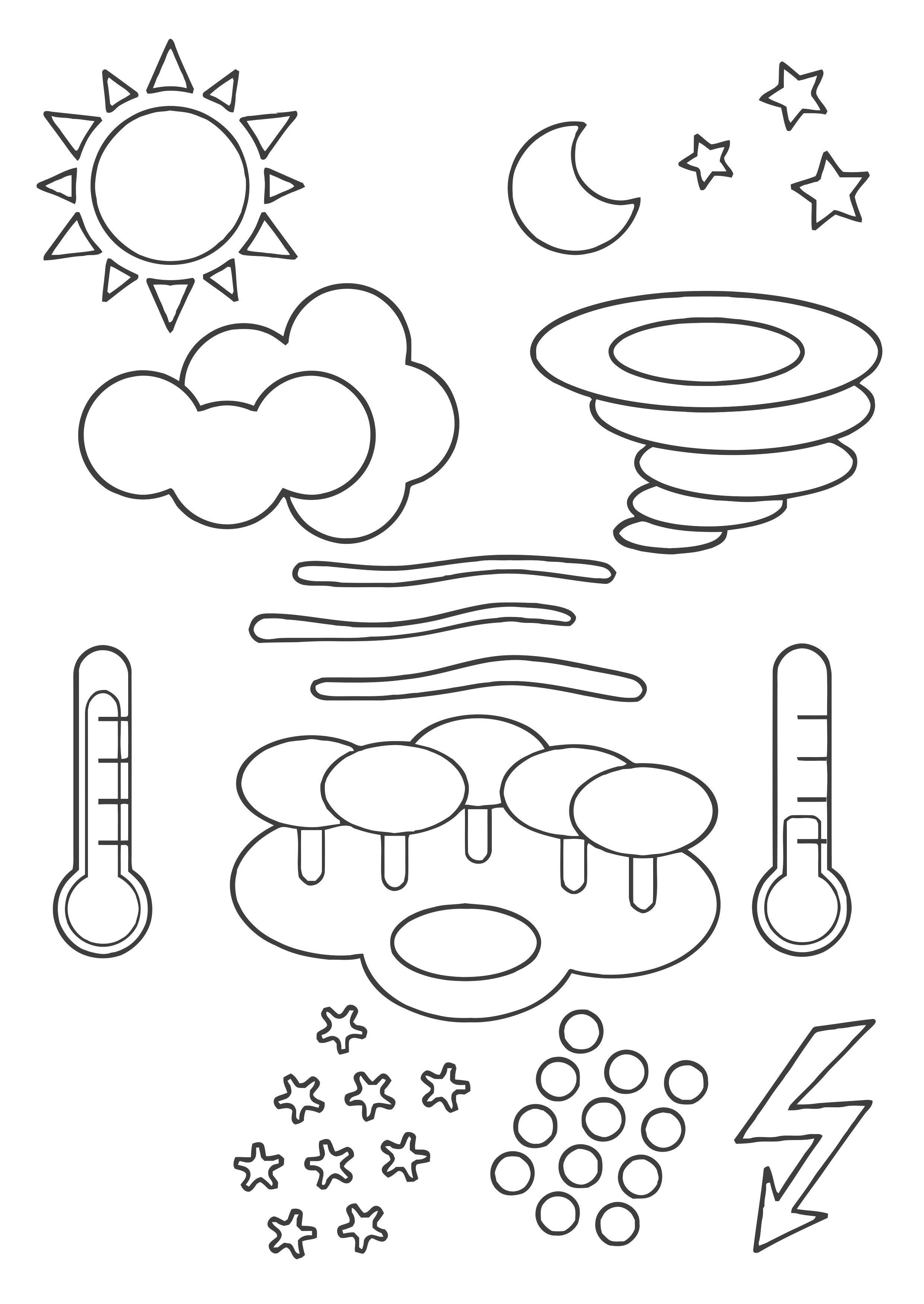 i giorni della settimana da colorare auto electrical wiring diagram Polaris ATV Wiring Diagram kleurplaat weer symbolen