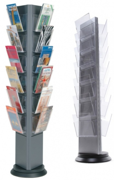 Torre Premium Rotating Brochure Stand - Signs 4 Schools