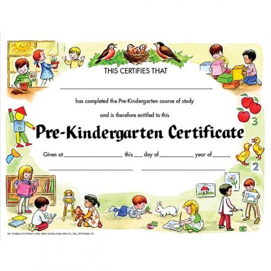 30 pk - VA199CL Pre-Kindergarten Certificates - 8 1/2\