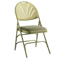 Samsonite 51660 FanBack Fabric Padded Folding Chairs ...