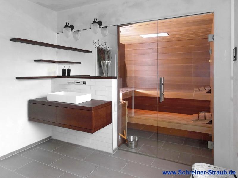 Badezimmer Sauna Sauna im eigenen Bad Schreiner Straub - badezimmer einbau