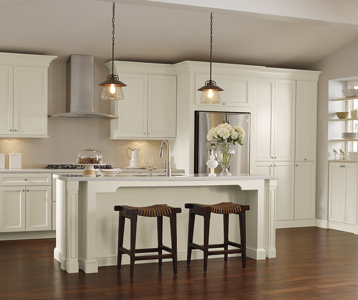 Off White Kitchen Cabinets - Schrock Cabinetry - white kitchen cabinets