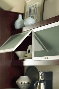 Aluminum Frame Cabinet Doors with Frost Glass - Schrock