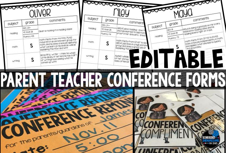 parent teacher conferences, conference forms, conferences, conference freebie