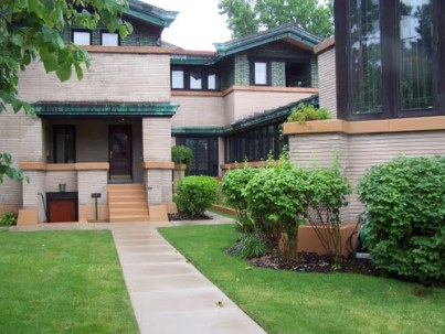 The Dana-Thomas house by Frank Lloyd Wright
