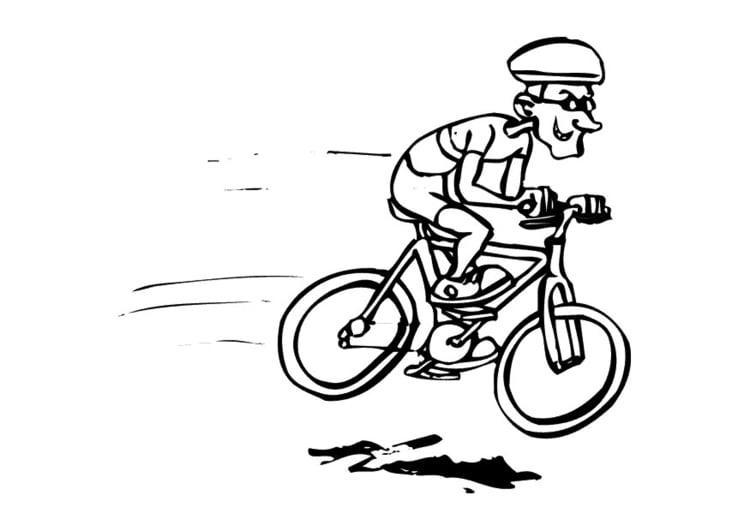 ausmalbild mountain bike fahren