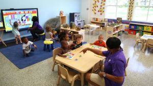 Two-year-olds at a preschool in St. Petersburg, Florida Credit: Scott Keeler/Tampa Bay Times/ZUMA