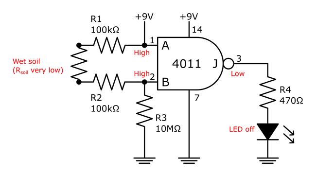 soil dry tester circuit