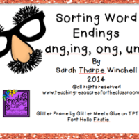 Phonics Game Freebie -ang  -ung  -ing  -ong  Glued Sounds