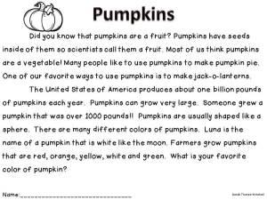 pumpkin close read