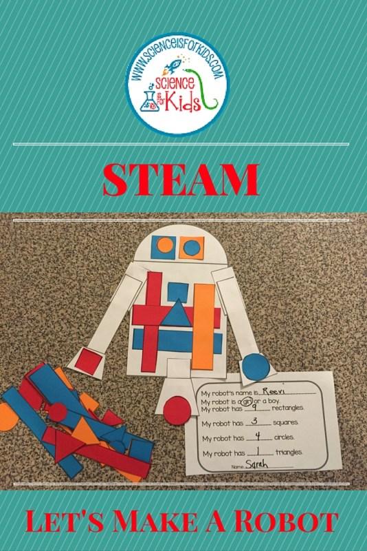 STEAM robots math activity