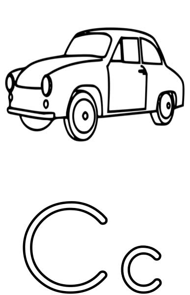 The Letter C - Coloring Page for Kids - Free Printable Picture