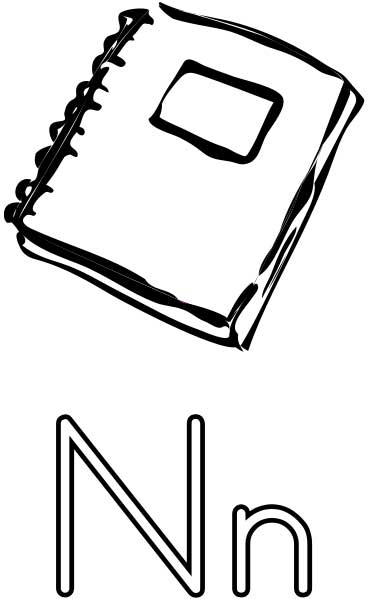 The Letter N - Coloring Page for Kids - Free Printable Picture