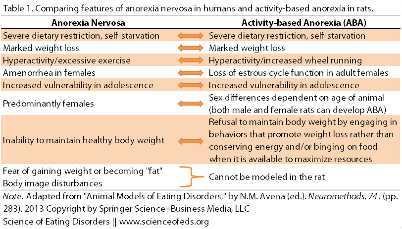 biochemical correlates of anorexia and bulimia essay