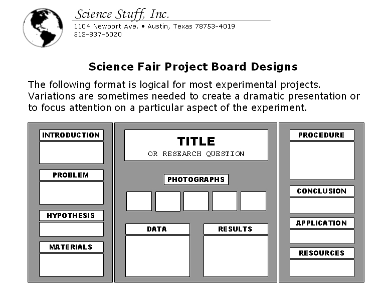 science fair order tri fold board mrs evans teacher website easy