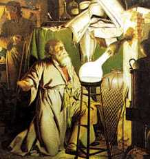 Detail of a painting by Joseph Wright of Derby depicting the discovering of the element Phosphorus Retrieved from:  https://en.wikipedia.org/wiki/File:Henning_brand.jpg