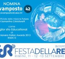 Candidiamo il sito Avamposto 42 della missione di Samantha Cristoforetti ai Macchianera Awards 2015