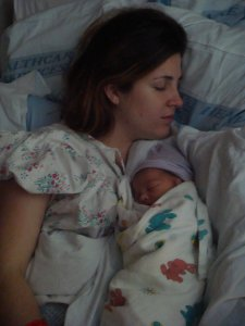 Amberleigh and Baby Tristan