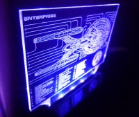 Star Trek Enterprise Blue Print Color Changing LED Desk ...