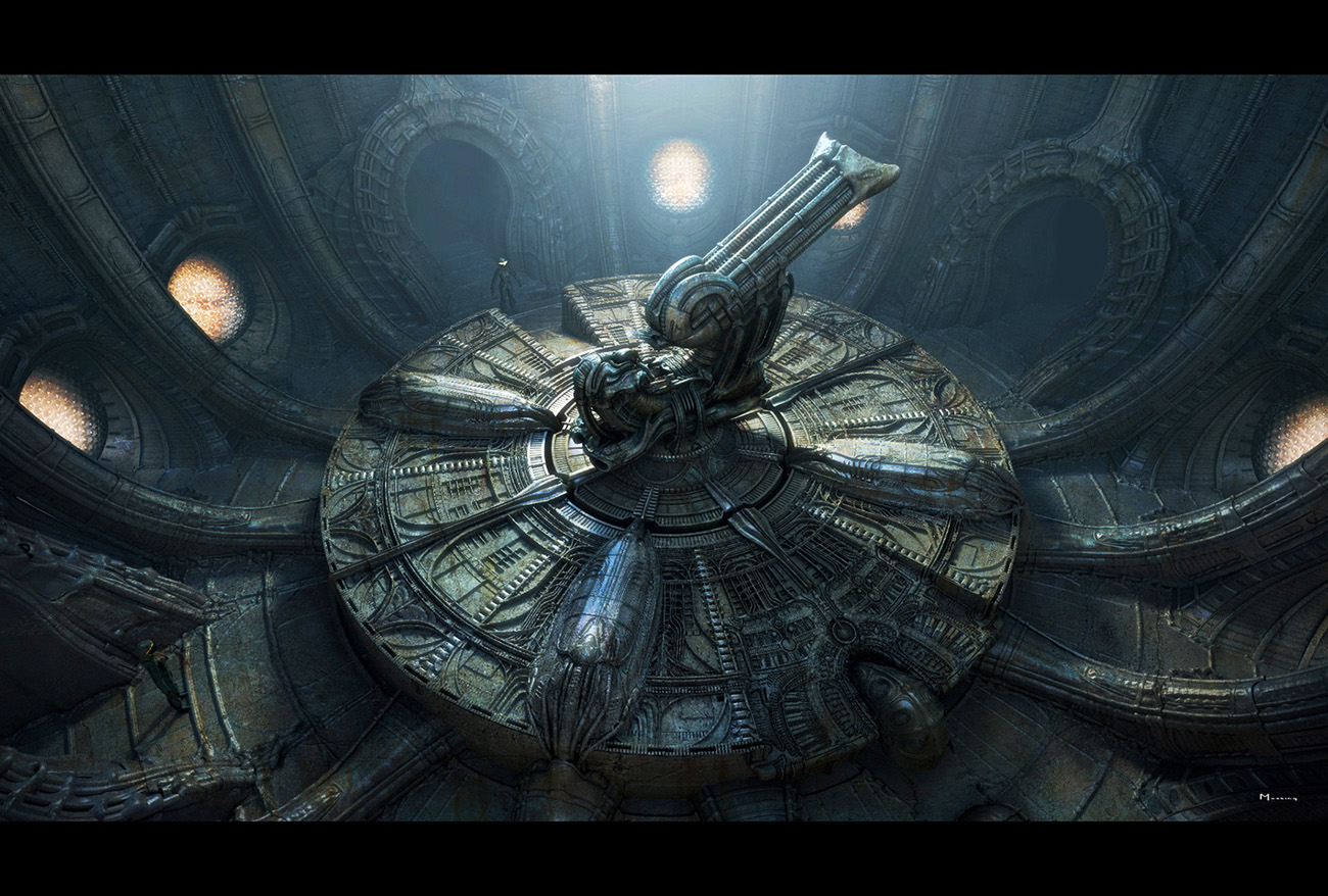 Derelict Chamber Concept Prometheus Artwork Image Gallery