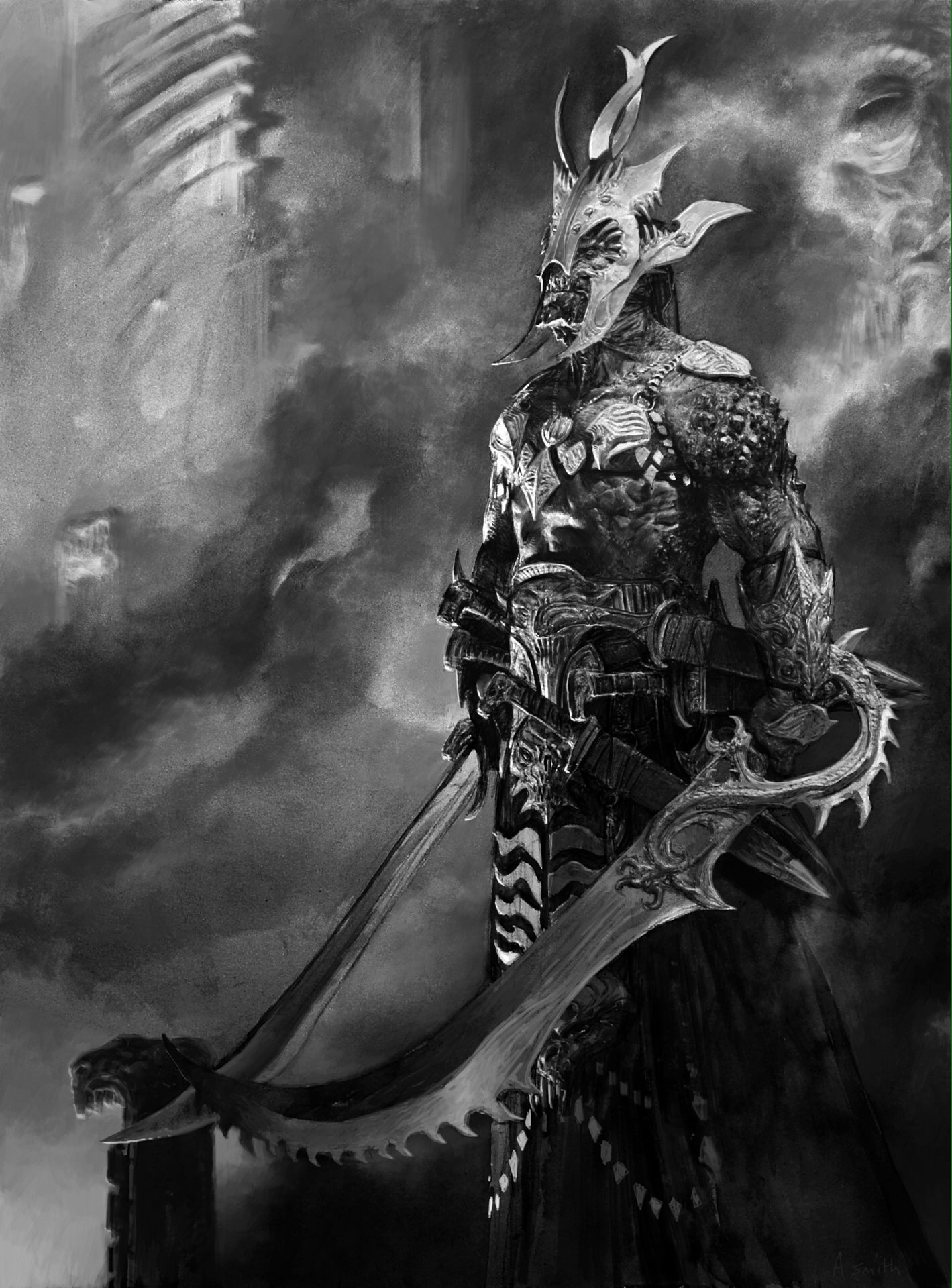 3d Wallpaper Portrait Amazing Fantasy Illustrations By Adrian Smith Illustrator