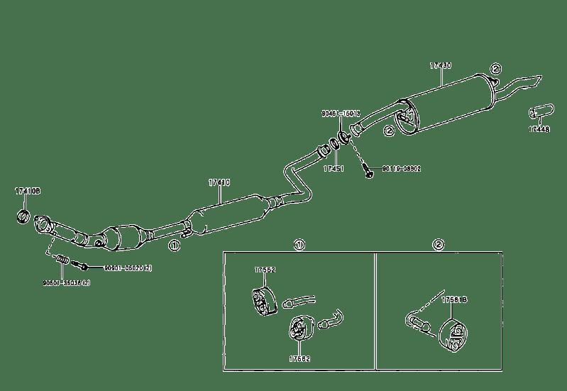 2005 scion xb Motor diagram