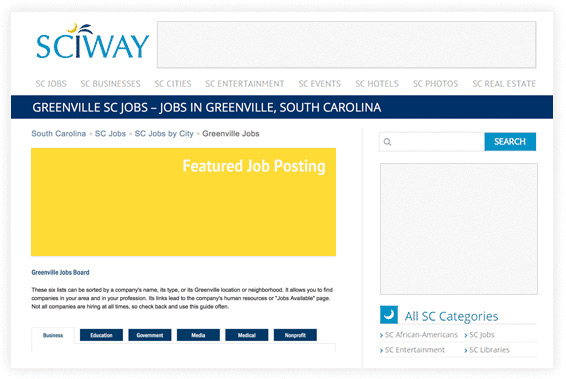 Job Postings for SC Businesses and Organizations on SCIWAY