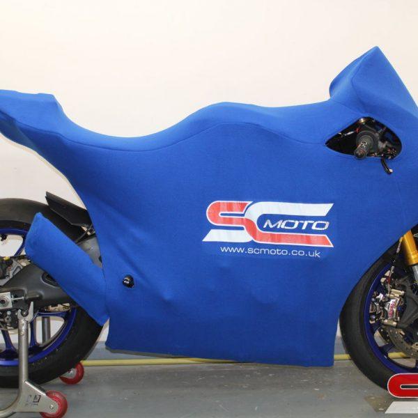 Yamaha R1 track bike cover blue