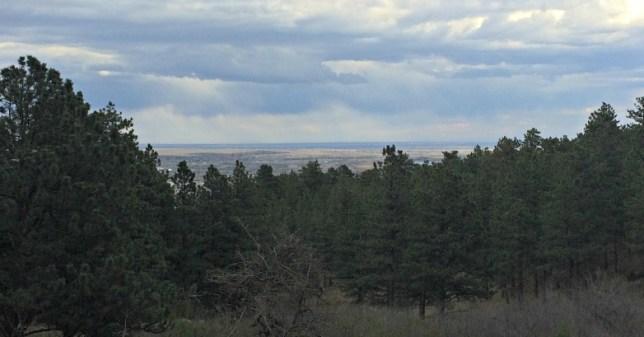 Looking back over Boulder