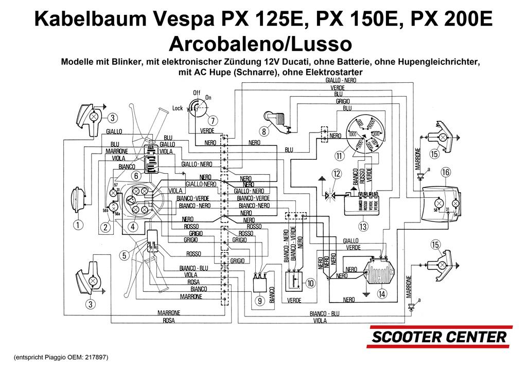 vespa cosa wiring diagram