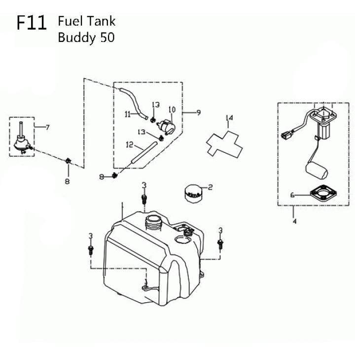 Tank 50cc Scooter Motor Diagram Wiring Schematic Diagram