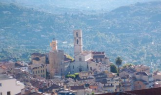 Old town Grasse, taken from the balcony of my hotel room