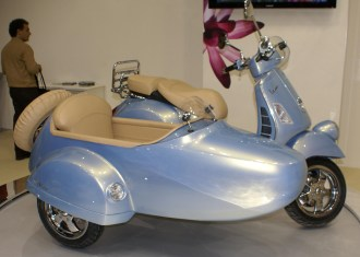 Modern Vespa Sidecar