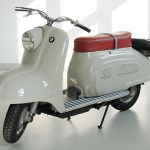 "BMW's '50s-era R10 scooter was sadly never produced. ""Urban mobility"" was headed in another direction then and they went with the Isetta microcar instead."