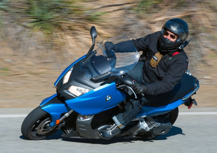 Out riding the BMW C600 Sport. (Photo by rockstorephotos.com)