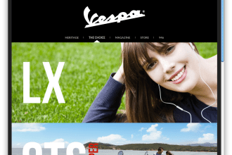 The new, responsive Vespa.com