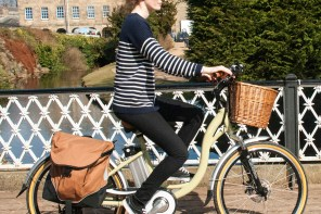 Electric power eases pedaling effort