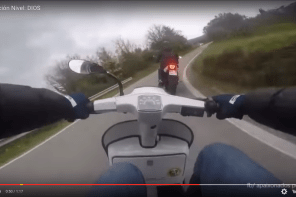 Video: Hot Rod Vespa Gets Payback on Aggressive Motorcycle