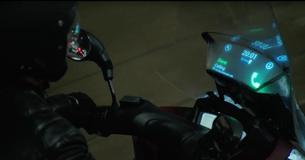 "Samsung and Yamaha's ""Smart Windshield"" display concept"
