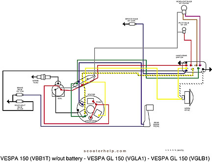Vespa Wiring Diagram Wiring Diagram 2019
