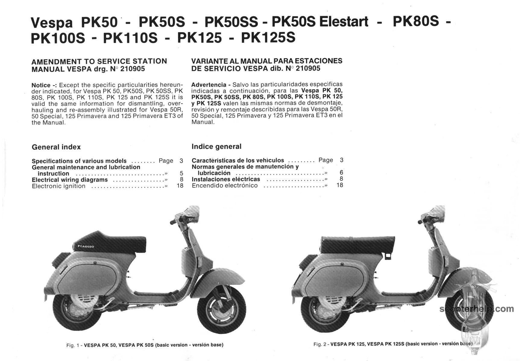vespa pk 50 service manual pdf