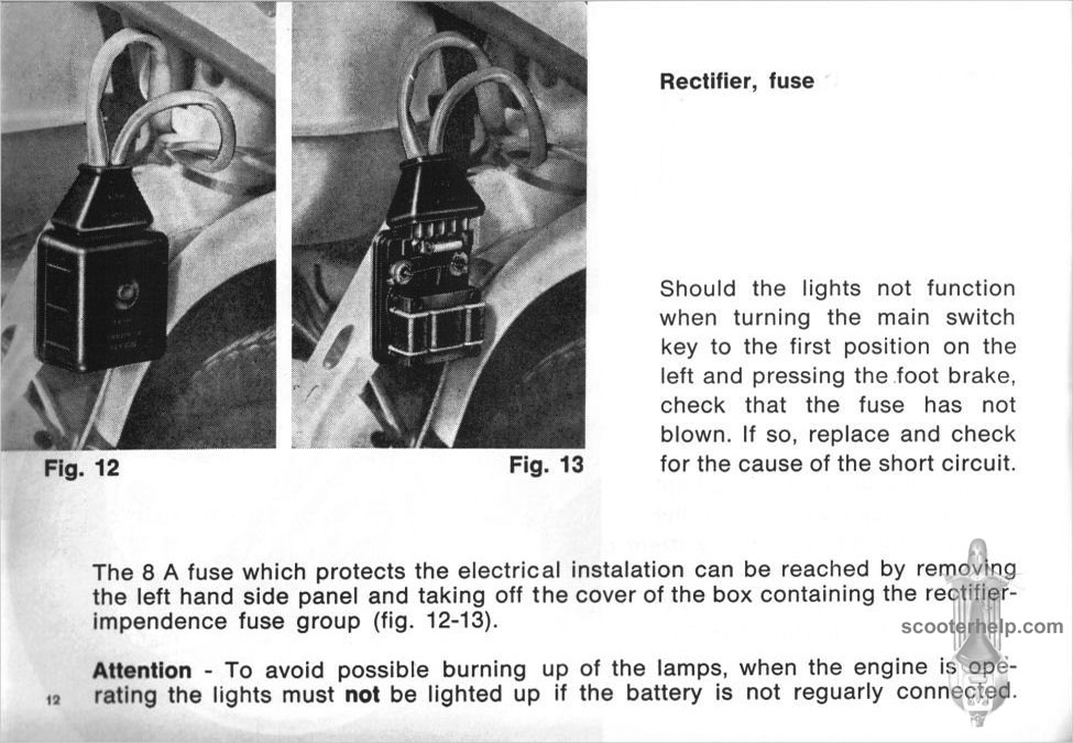 Lambretta SX 200 Special Owner\u0027s Manual