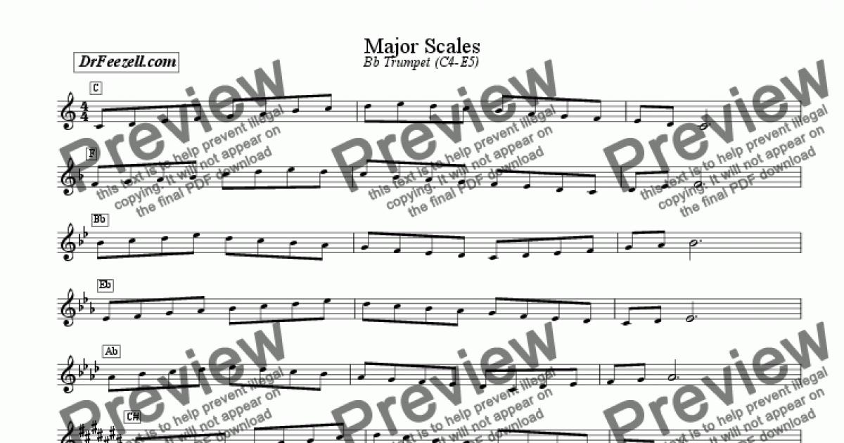 Major/Minor Scales Trumpet MULTIPACK - Download Sheet Music PDF file