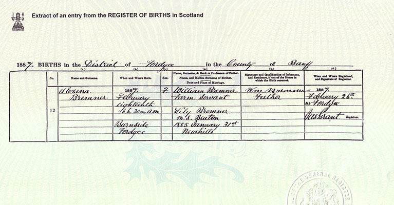 Certificates and copies ScotlandsPeople