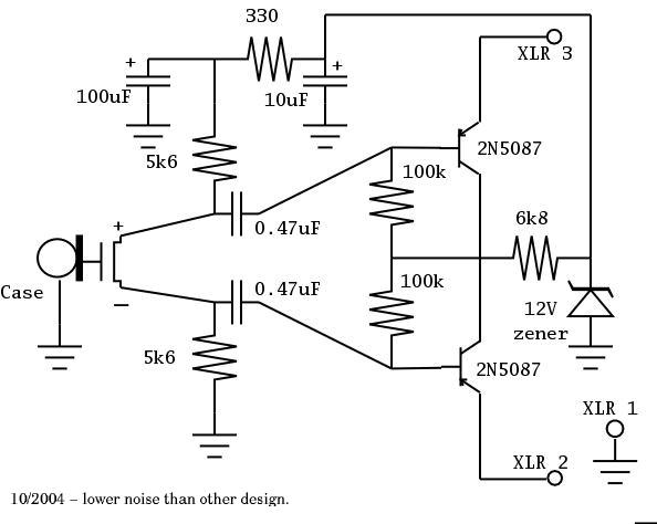 phantom power supply schematic