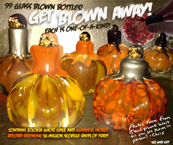 New Blair's 2009 Halloween Reserves with Pumpkin-Shaped Bottles