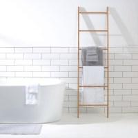 Bamboo Towel Rack Ladder Holder Clothes Rung Rail Shelf ...