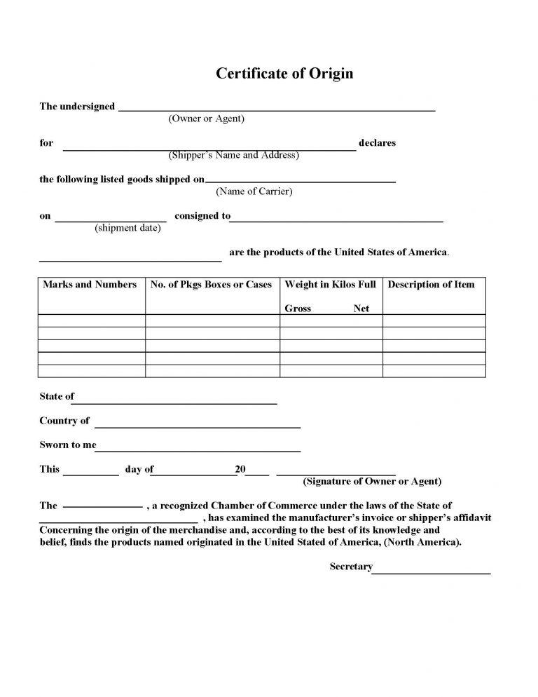 Certificates of Origin - Scotts Valley Chamber of Commerce